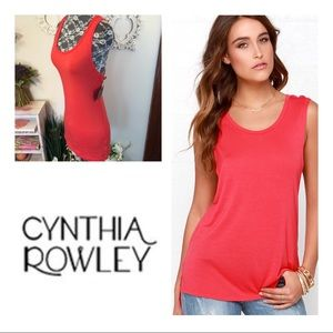 New Cynthia Rowley Pink/Red Coral Tank Top